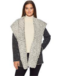 Dylan By True Grit - Slub Bonded Frosty Tipped Pile Cozy Hood Jacket (black) Women's Coat - Lyst