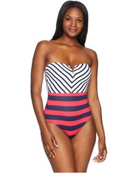 Tommy Bahama - Channel Surf Mitered Bandeau One-piece - Lyst