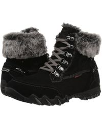 Allrounder By Mephisto - Nabuka Tex (black Suede/g Nubuck) Women's Lace-up Boots - Lyst