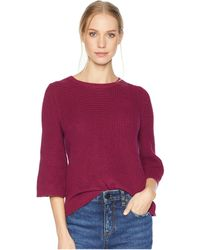 Michael Stars - Cotton Knits 3/4 Sleeve Swing Sweater (charcoal) Women's Sweater - Lyst
