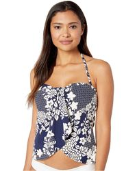 52e853c5f5c02 Vince Camuto - Zen Garden Draped Bandini Top (deep Sea) Women s Swimwear -  Lyst