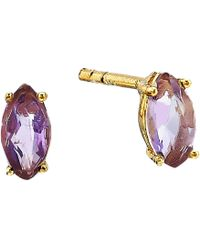 Shashi - Casey Stud Earrings (gold Moonstone) Earring - Lyst
