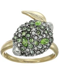 Alexis Bittar - Crystal Encrusted Lime Ring (10k Gold/antique Rhodium Accents) Ring - Lyst