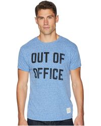 The Original Retro Brand - Out Of Office Vintage Tri-blend Tee (streaky Royal) Men's T Shirt - Lyst