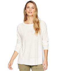 NYDJ - Boat Neck Sweater W/ Split Back (fog) Women's Sweater - Lyst