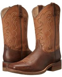 Dan Post - Lindberg (dark Brown/saddle Tan) Cowboy Boots - Lyst
