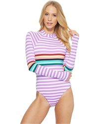 The Bikini Lab - Stripeout Bodysuit One-piece (multi) Women's Swimsuits One Piece - Lyst