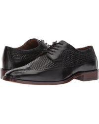 Johnston & Murphy - Boydstun Woven Dress Wingtip Oxford (black Italian Calfskin) Men's Lace Up Wing Tip Shoes - Lyst
