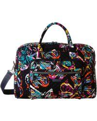 Vera Bradley - Iconic Weekender Travel Bag (classic Navy) Weekender/overnight Luggage - Lyst