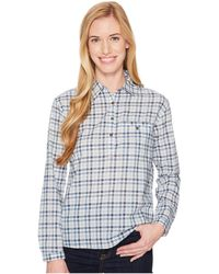 The North Face - Barilles Pullover Shirt (dusty Blue Gingham) Women's Long Sleeve Button Up - Lyst