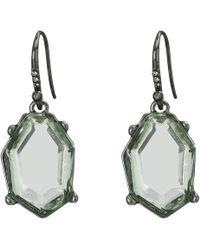 French Connection - Irregular Stone Drop Earrings (aqua) Earring - Lyst