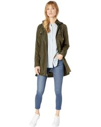 Via Spiga - Packable Flap Front Rain With Gold Hardware (olive) Women's Coat - Lyst