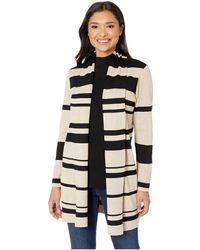 Calvin Klein - Multi Stripe Cardigan (black/heather Latte) Women's Sweater - Lyst