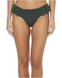Robin Piccone - Lina Ruffle Bikini Bottom (deep Forest Green) Women's Swimwear - Lyst