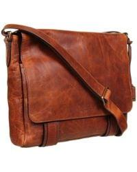 Frye - Logan Messenger (cognac Antique Pull Up) Messenger Bags - Lyst