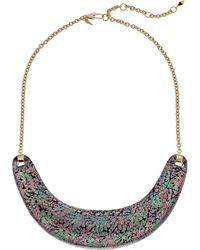 Alexis Bittar - Crescent Bib Necklace (abalone Pattern) Necklace - Lyst