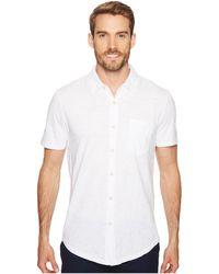 Mod-o-doc - Montana Short Sleeve Button Front Shirt (mulberry) Men's Short Sleeve Button Up - Lyst