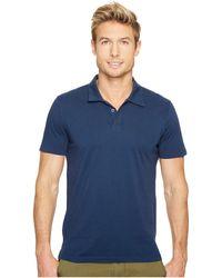 Agave - Collawash Short Sleeve Supima Polo (black Iris Navy) Men's Short Sleeve Pullover - Lyst