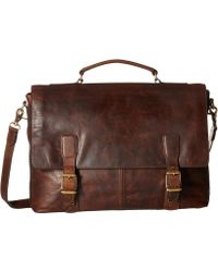 Frye - Logan Top Handle (cognac Antique Pull Up) Handbags - Lyst