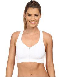 Jockey Active - Zip Front High Impact Seamless Bra (pure White) Women's Bra - Lyst