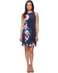 Lauren by Ralph Lauren - Suzan Windell Floral Matte Jersey Dress - Lyst