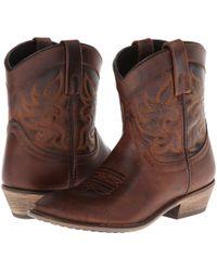 Dingo - Willie (black Leather) Cowboy Boots - Lyst