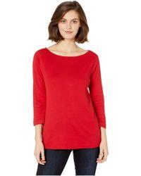 Three Dots - Elasticized Fit Tee (winter Berry) Women's T Shirt - Lyst