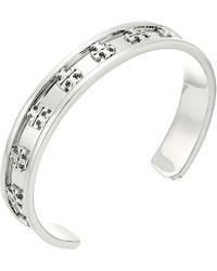 Tory Burch - Raised Logo Cuff Bracelet (tory Gold) Bracelet - Lyst