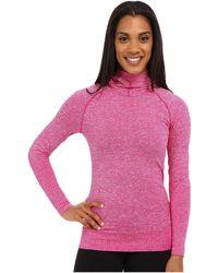 The North Face - Go Seamless Pullover Hoodie (fuchsia Pink Heather (prior Season)) Women's Sweatshirt - Lyst