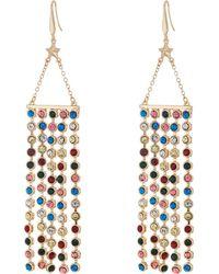 Steve Madden - Casted Tassel Bar Star Fishhook Earrings (gold) Earring - Lyst
