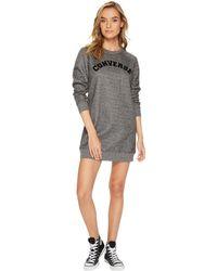 Converse - Long Sleeve Sweatshirt Dress (black Marl) Women's Dress - Lyst