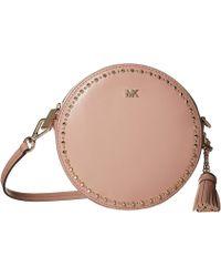 567ba6930efb Lyst - Michael Michael Kors Medium Canteen Leather Crossbody Bag in Pink