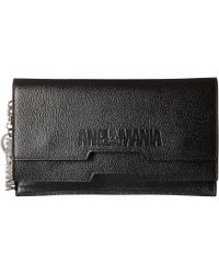 869f8e5bc28b Lyst - Vivienne Westwood Pochette Black Leather Embossed Orb Chain ...