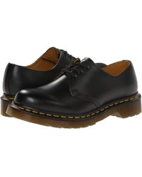 Dr. Martens - 1461 Vegan 3-eye Gibson (cherry Red Cambridge Brush) Lace Up Casual Shoes - Lyst