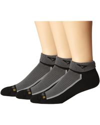 Drymax Sport - Trail Running 1/4 Crew Turn Down 3-pair Pack (gray/oct Pink/lime Green) Crew Cut Socks Shoes - Lyst