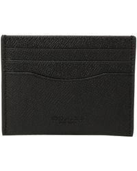 08ff7a27 Lyst - COACH Business Card Case In Crossgrain Leather in Gray for Men