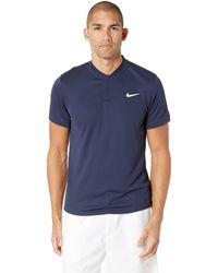 e5967b45a Nike - Court Dry Polo Blade (black/white) Men's Clothing - Lyst