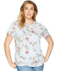 Lauren by Ralph Lauren - Plus Size Jersey Short-sleeve Top (blue Multi) Women's Clothing - Lyst