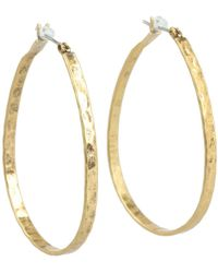Lucky Brand - Textured Medium Oblong Hoops - Lyst