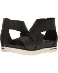 Eileen Fisher - Sport 4 (black Woven Leather) Women's Sandals - Lyst
