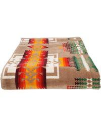 Pendleton - Oversized Jacquard Towel (black/harding) Bath Towels - Lyst