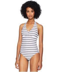 Heidi Klein - Bequia Scallop Button Halter One-piece (nautical) Women's Swimsuits One Piece - Lyst
