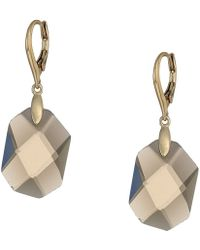 Lauren by Ralph Lauren - Smokey Quartz Drop Earrings (gold/smokey) Earring - Lyst