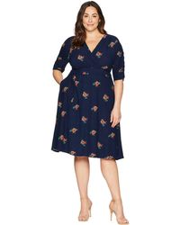 Kiyonna - Gabriella Dress (fall Rose Motif) Women's Dress - Lyst