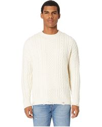 The Kooples - Distressed Cashmere Wool Sweater (beige) Men's Sweater - Lyst