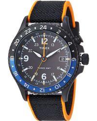 Timex - Allied Three Gmt (black/orange) Watches - Lyst
