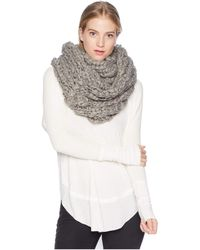 Free People - Dreamland Chunky Knit Cowl (ivory) Caps - Lyst
