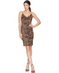 Bebe - Cowl Back Chain Strap Dress (gold/black) Women's Dress - Lyst
