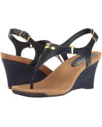 Lauren by Ralph Lauren - Nikki (new Silver) Women's Wedge Shoes - Lyst