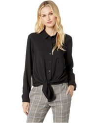 Two By Vince Camuto - Flowy Rumple Tie-front Button Down Shirt (new Ivory) Women's Clothing - Lyst